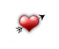 Liefde / Valentijn tattoo voorbeeld Hartje met pijl midden 1