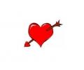 Liefde / Valentijn tattoo voorbeeld Hartje met pijl midden 2