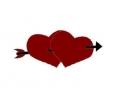 Liefde / Valentijn tattoo voorbeeld Hartjes met pijl midden 2