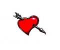 Liefde / Valentijn tattoo voorbeeld Hartje met pijl midden 4