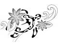 Bloemen tattoo voorbeeld Tribal Maori vrouwelijk