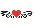 Liefde / Valentijn tattoo voorbeeld Hartje tribal 2