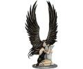 Sprookjes tattoo voorbeeld Dame met zwarte vleugels