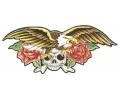 Roos tattoo voorbeeld Adelaar met Skull en Rozen