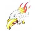 Vlammen & Vuur tattoo voorbeeld Adelaar met Vlammen en Sigaar