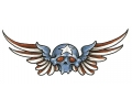 Skulls Kleur tattoo voorbeeld American Flying Skull