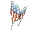 USA & Redneck Tattoos tattoo voorbeeld Amerikaanse Vlinder