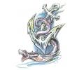 Ankers tattoo voorbeeld Anker met Serpent