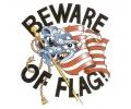 USA & Redneck Tattoos tattoo voorbeeld Beware of the Flag