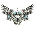Nieuw!!! Plaktattoos tattoo voorbeeld Bird Skull met Kaars