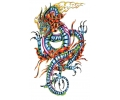 Draken tattoo voorbeeld Blauwe Draak