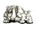 Honden tattoo voorbeeld Bulldog