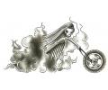 Motor / Biker tattoo voorbeeld Burnout