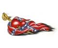 USA & Redneck Tattoos tattoo voorbeeld Confederate Heart