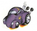 Auto Fanaat tattoo voorbeeld Dragrace Kever