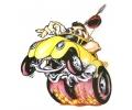 Auto Fanaat tattoo voorbeeld Drag Racer