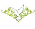 Zwaluwen tattoo voorbeeld Duif met Doornen