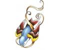 Overige Vogels tattoo voorbeeld Duikvlucht