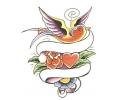 Duiven tattoo voorbeeld Duizelige Duif