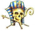 Egypte tattoo voorbeeld Farao Skull