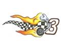 Motor / Biker tattoo voorbeeld Fire 3