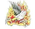 Vlammen & Vuur tattoo voorbeeld Fire Eagle