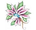 Bloemen tattoo voorbeeld Flower Bird