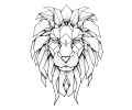 Geometrische Tattoos tattoo voorbeeld Geometrische Leeuw 1