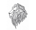 Geometrische Tattoos tattoo voorbeeld Geometrische Leeuw 2