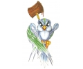 Nieuw!!! Plaktattoos tattoo voorbeeld Gevaarlijk Vogeltje