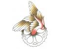 Motor / Biker tattoo voorbeeld Gevleugeld Tandwiel