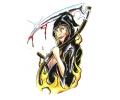 Boosaardige Tattoos tattoo voorbeeld Grim Reaper Dame
