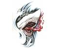 Haaien tattoo voorbeeld Haai Proeft Bloed