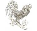Overige Vogels tattoo voorbeeld Haan op Tak