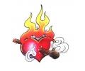 Hartjes tattoo voorbeeld Hart met Lucifer