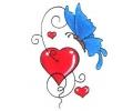 Hartjes tattoo voorbeeld Hart met Vlinder