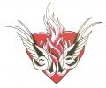 Overige Vogels tattoo voorbeeld Hart met Vogels
