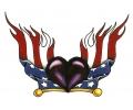 USA & Redneck Tattoos tattoo voorbeeld Hartje met Amerikaanse Vlag
