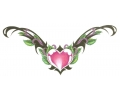 Onderrug Tattoos tattoo voorbeeld Heart Lower Back Tattoo
