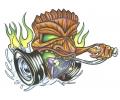 Auto Fanaat tattoo voorbeeld Hotrod