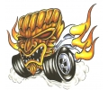 Auto Fanaat tattoo voorbeeld Hot Rod 2