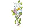 Katten tattoo voorbeeld Kat met Roos