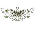 Onderrug Tattoos tattoo voorbeeld Keltische Vlinder Onderrug Tattoo