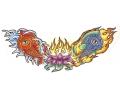 Vissen & Koi Karpers tattoo voorbeeld Koi Karpers met Lotus Bloem