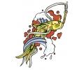 Vissen & Koi Karpers tattoo voorbeeld Koi aan de Haak