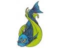 Vissen & Koi Karpers tattoo voorbeeld Koi met Drie Ogen