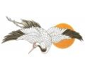 Nieuw!!! Plaktattoos tattoo voorbeeld Kraanvogel met Zon