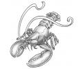 Overige dieren tattoo voorbeeld Kreeft