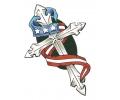USA & Redneck Tattoos tattoo voorbeeld Kruis met Amerikaanse Vlag