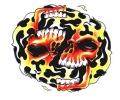 Skulls Kleur tattoo voorbeeld Lachende Skulls